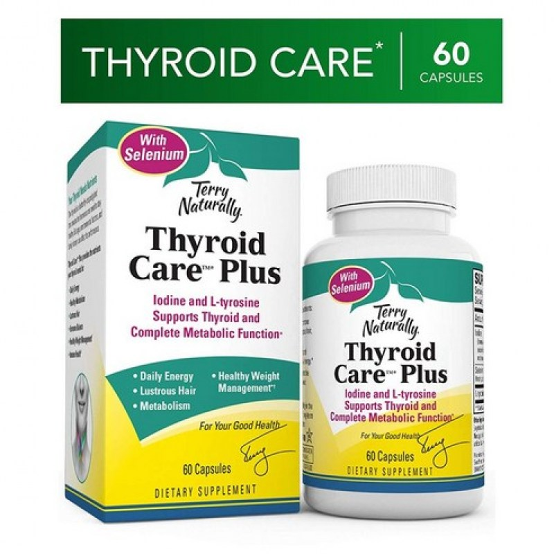 Terry Naturally Thyroid Care Plus 요오드 영양제 (60정)